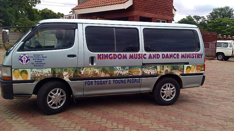 Kingdom Music and Dance Ministry Van