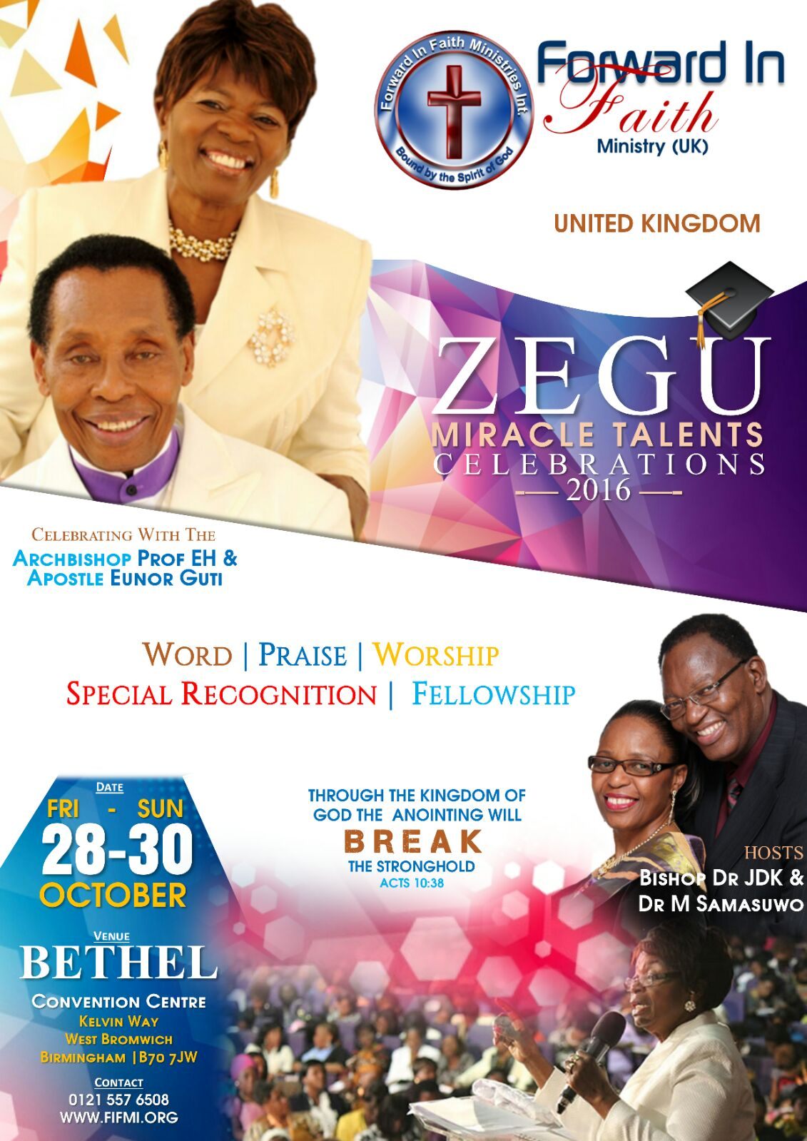 UK 2016 ZEGU Talents Celebrations Flyer