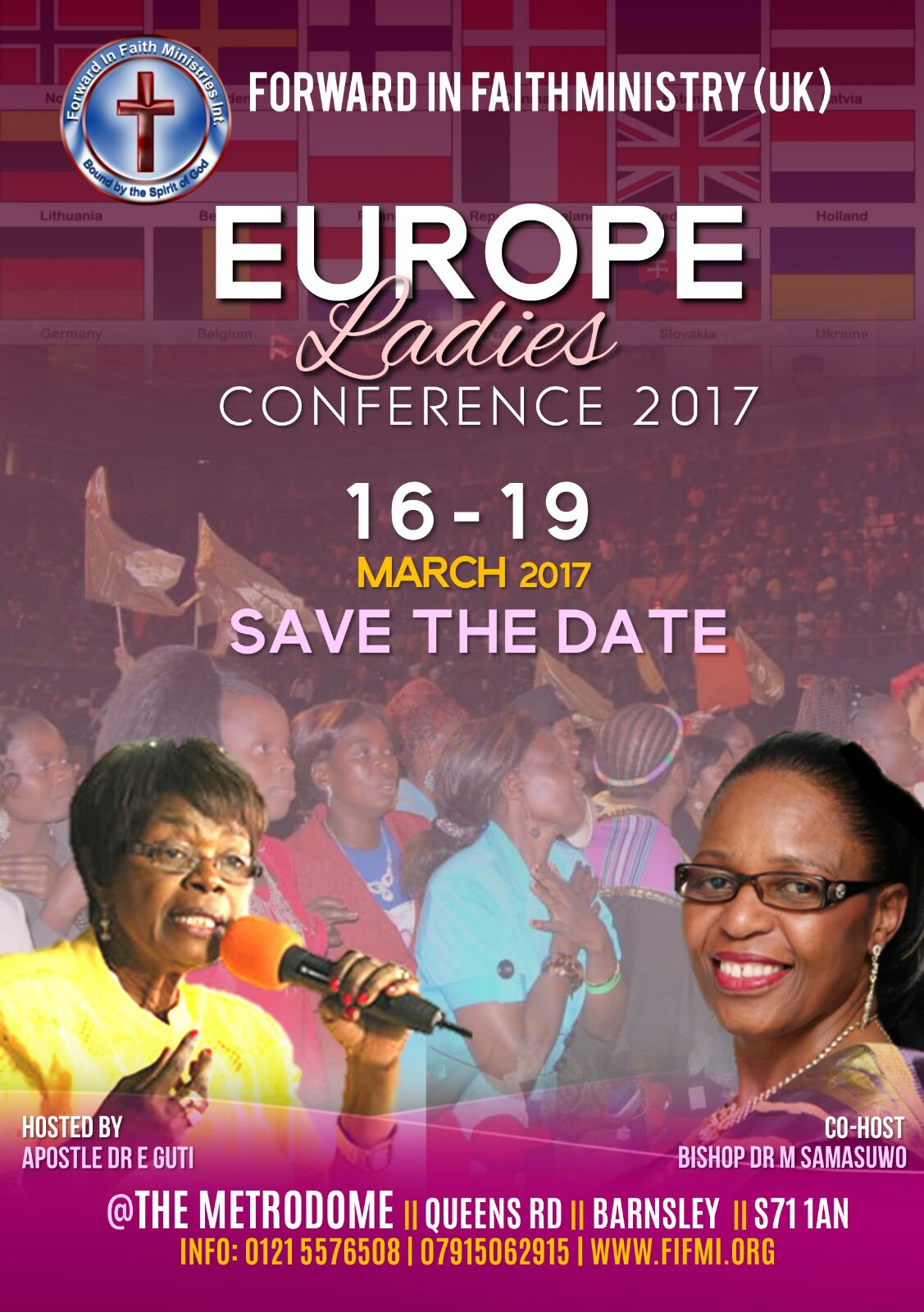 2017 Europe Women's Coference Flyer